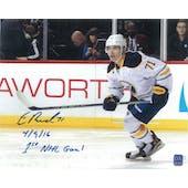 Evan Rodrigues Autographed Buffalo Sabres 8x10 Inscription Photo