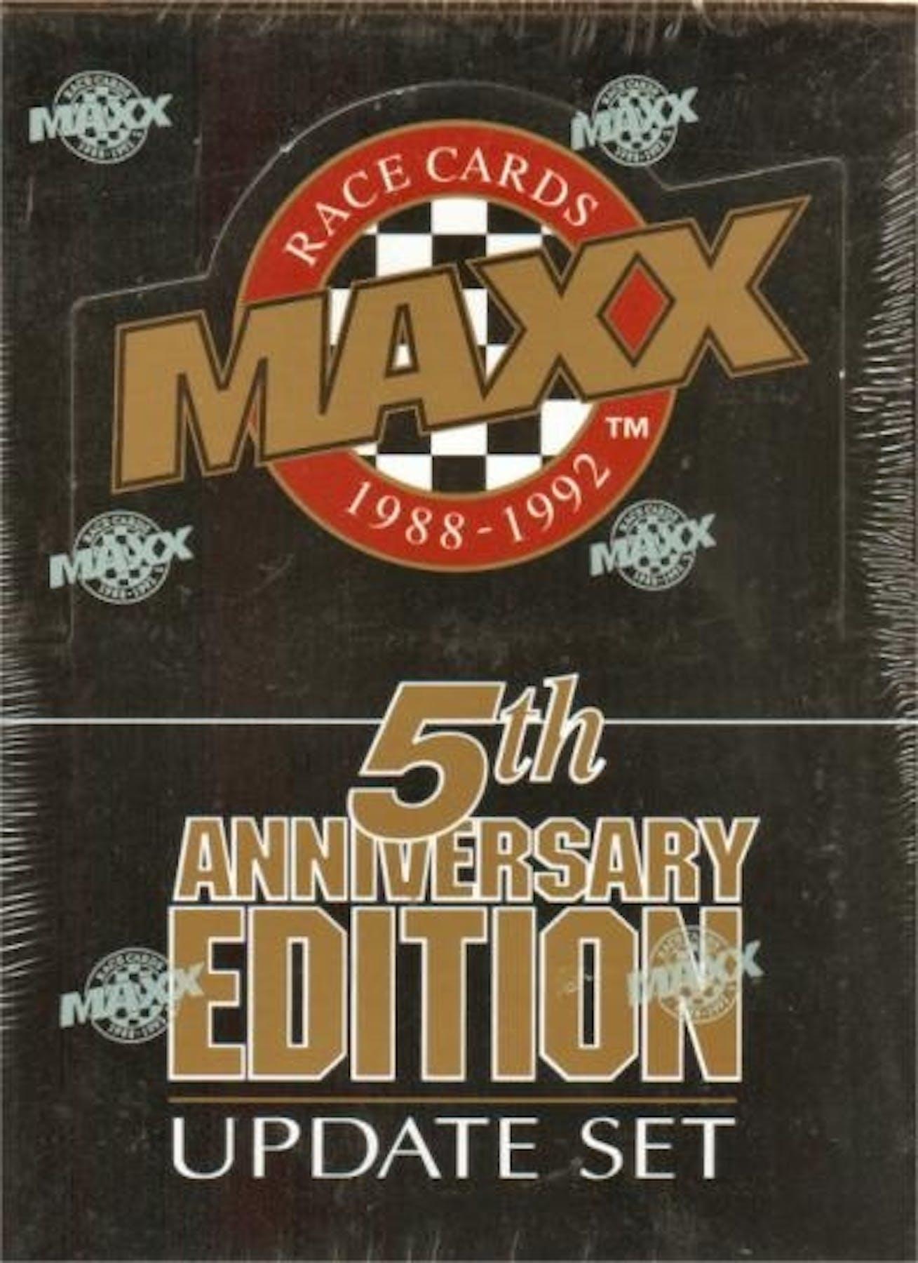 1992 J.R. Maxx Inc. Maxx 5th Anniversary Update Racing Hobby Box ...