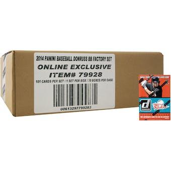 2014 Panini Donruss The Rookies Baseball Factory Set 20-Box Case
