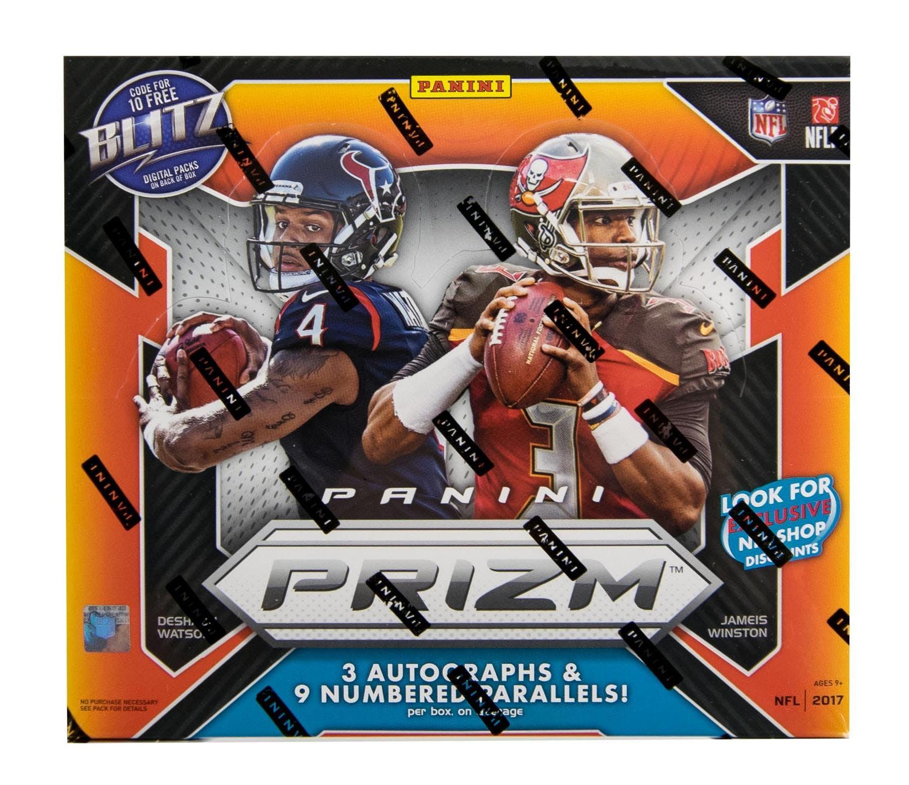 2017 Panini Prizm Football Hobby Jumbo Box Da Card World
