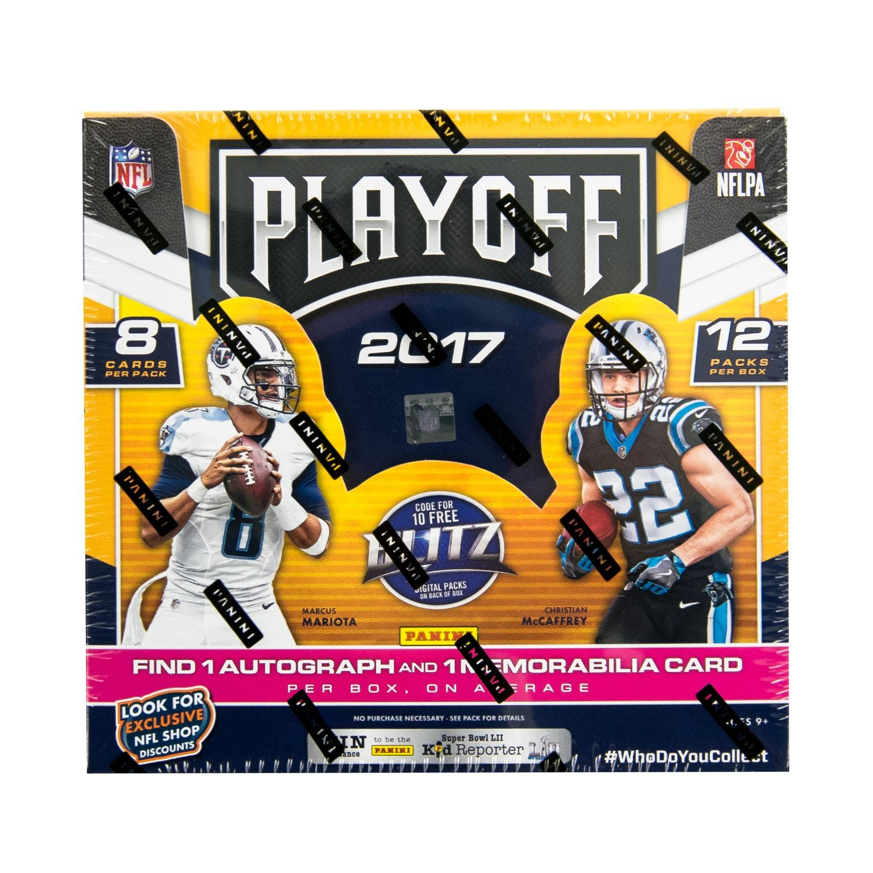 9e530847a 2017 Panini Playoff Football Hobby Box + 1 FREE 2018 FATHER S DAY PACK!