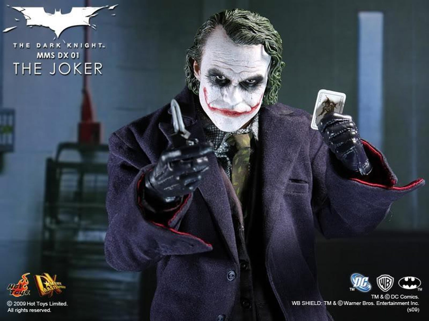 Hot Toys Dark Knight Joker Dx01 1 6 Scale Figure Mib Da Card World