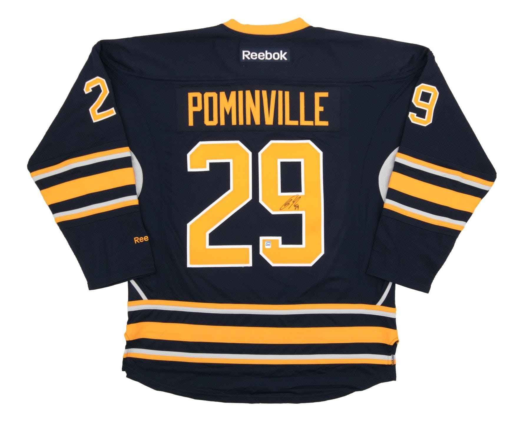 e3cae75f25d Jason Pominville Autographed Buffalo Sabres XL Blue Hockey Jersey ...