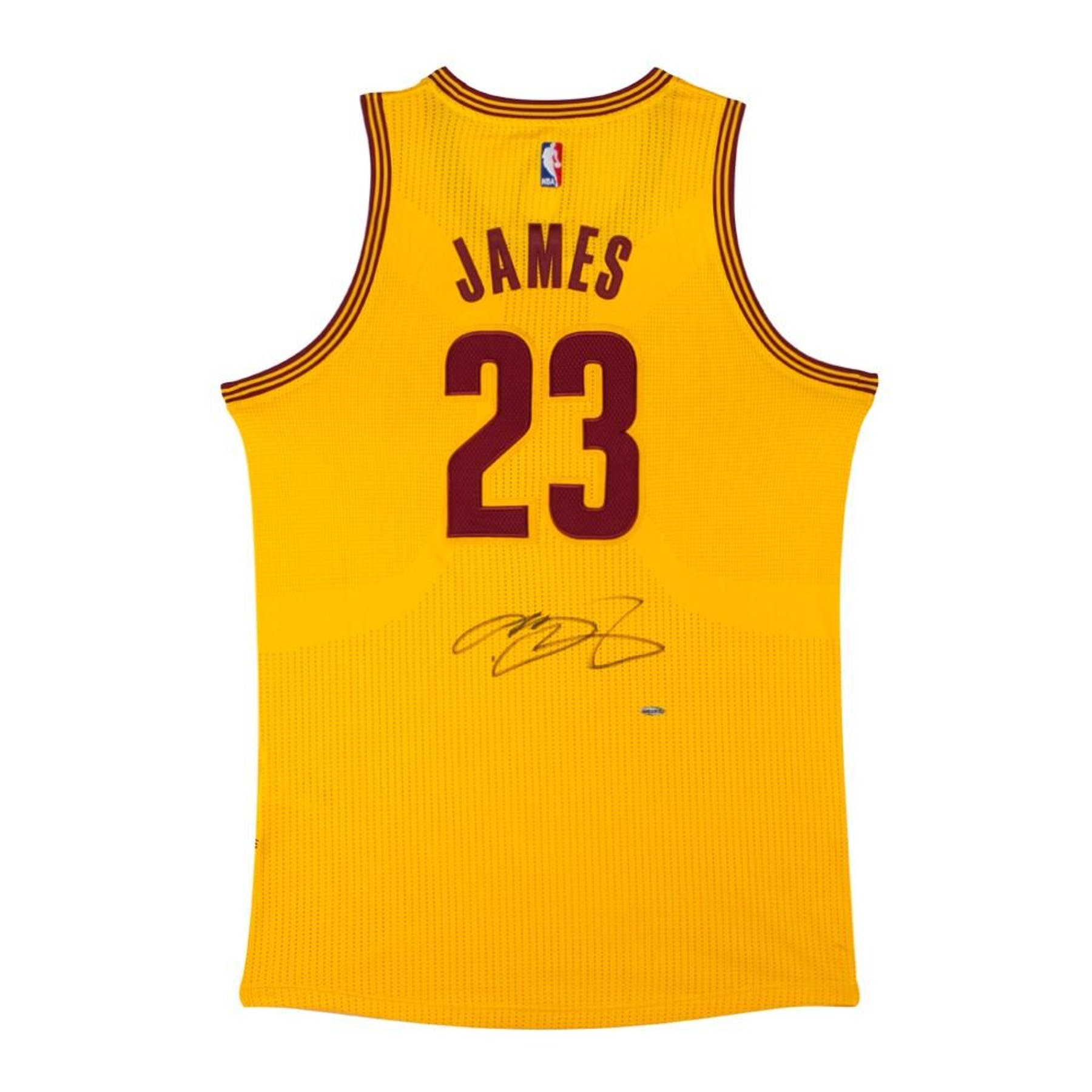 fb13a8f0788d LeBron James Autographed Cleveland Cavaliers Yellow Basketball Jersey UDA