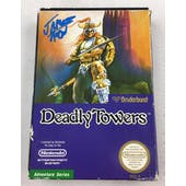 Nintendo (NES) Deadly Towers AVGN James Rolfe Blue Autographed Box Complete