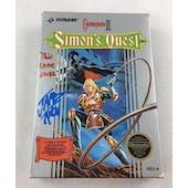 Nintendo (NES) CastleVania II Simon's Quest AVGN James Rolfe Blue Autograph Box Complete