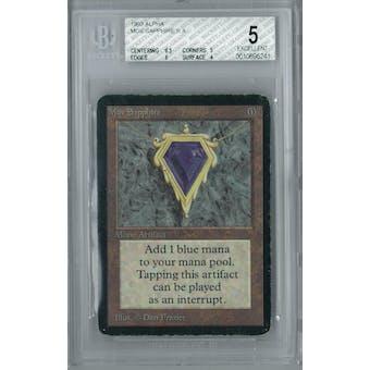 Magic the Gathering Alpha Mox Sapphire BGS 5 (8.5, 5, 6, 4)