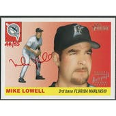 2004 Topps Heritage #ML Mike Lowell Real One Red Ink Auto #48/55