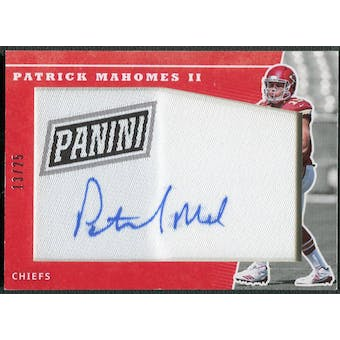 2017 Panini National Convention #PM Patrick Mahomes II Rookie Manufactured Patch Auto #13/25