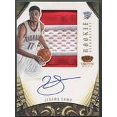2012/13 Panini Preferred #323 Jeremy Lamb Silhouettes Rookie Patch Auto #08/25