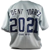 Bucky Dent & Mike Torrez Autographed Custom New York Yankees/Boston Red Sox Jersey (Dave & Adam's COA)