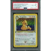 Pokemon Fossil 1st Edition Dragonite 4/62 PSA 6