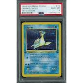 Pokemon Fossil 1st Edition Lapras 10/62 PSA 8