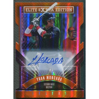 2015 Elite Extra Edition #1 Yoan Moncada Status Orange Die Cut Rookie Auto #04/10