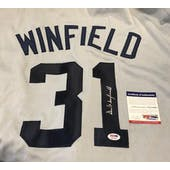 Dave Winfield Autographed Signed Yankees Gray Jersey PSA/DNA