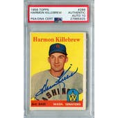 1958 Topps #288 Harmon Killebrew PSA/DNA Authentic Signed Auto Grade 10 *5925
