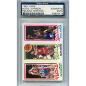 1980/81 Topps Basketball Magic Johnson PSA/DNA Signed Auto *5479