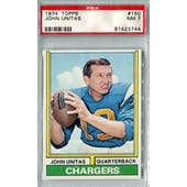 1974 Topps Football #150 Johnny Unitas PSA 7 (NM) *3744