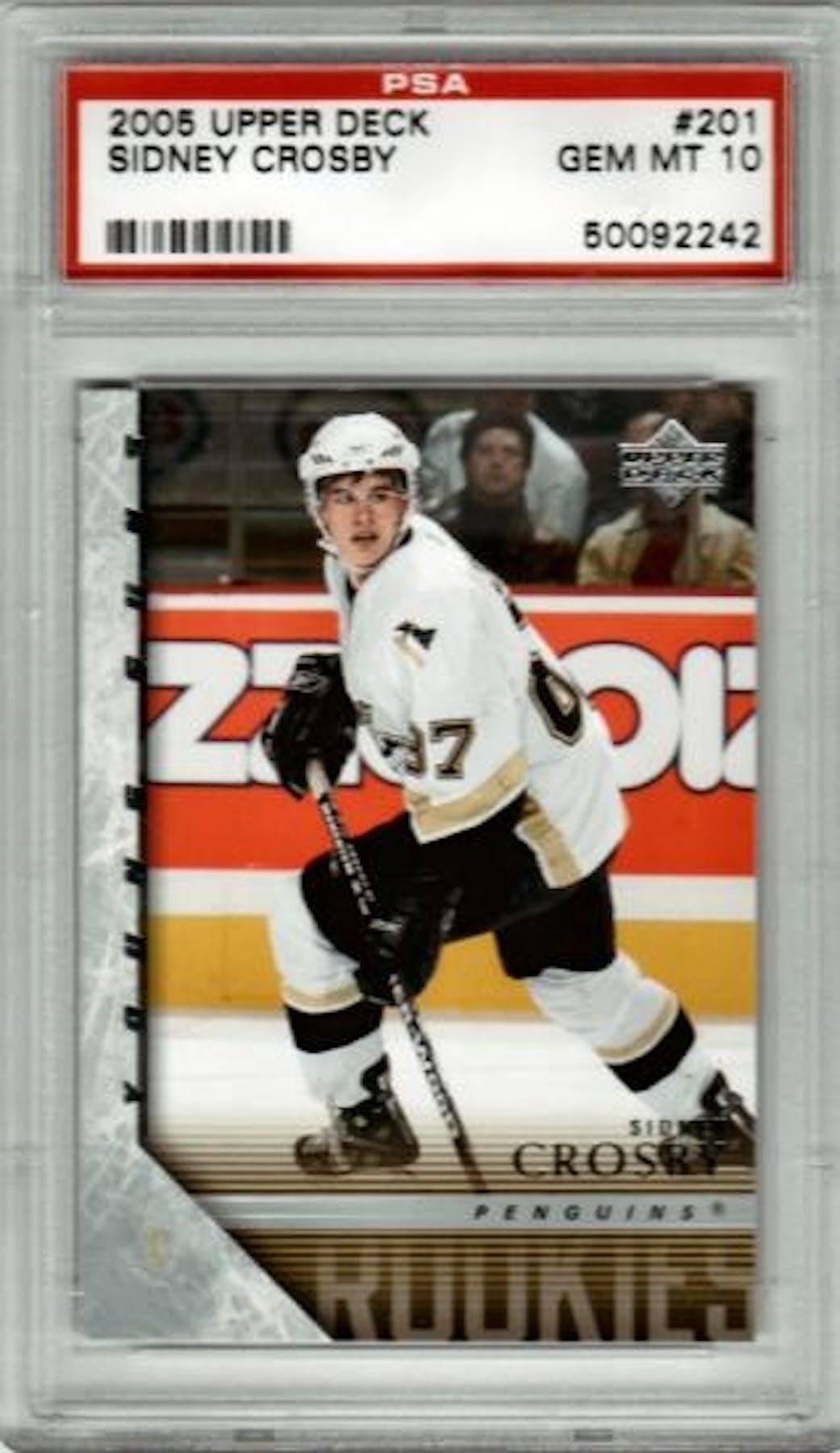 0fb0d8317 2005 06 Upper Deck  201 Sidney Crosby Young Guns Rookie Card ...