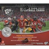 2009 Press Pass Football Hobby Box
