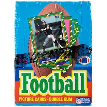 1986 Topps Football Wax Box
