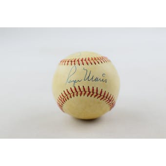 Mickey Mantle & Roger Maris Dual Autographed New York Yankees Official AL Baseball JSA & PSA Full Letter COA's