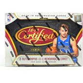 2018/19 Panini Certified Basketball Hobby Box