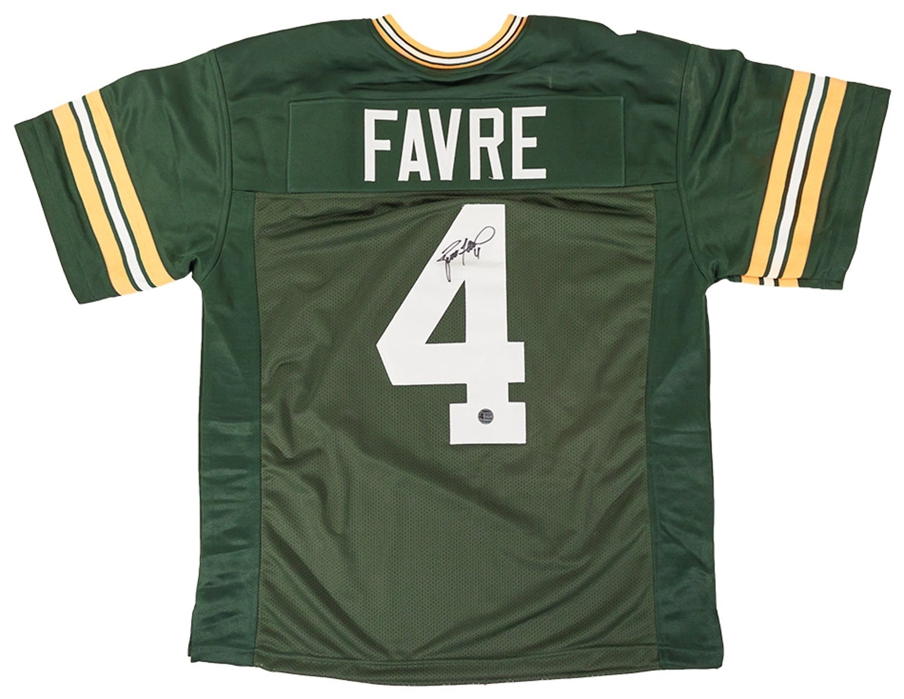 bdd8fbf85 Brett Favre Autographed Green Bay Packers Green Football Jersey ...