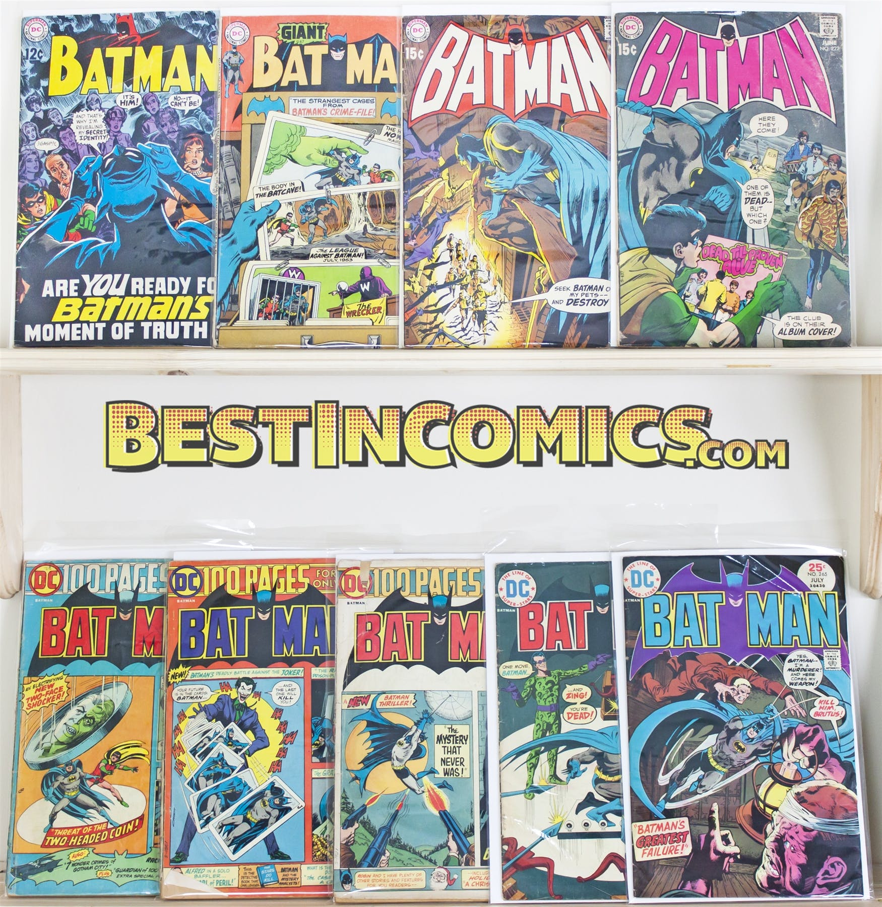 Batman Silver Age Run Includes 211 372 Dc Comics Da Card World