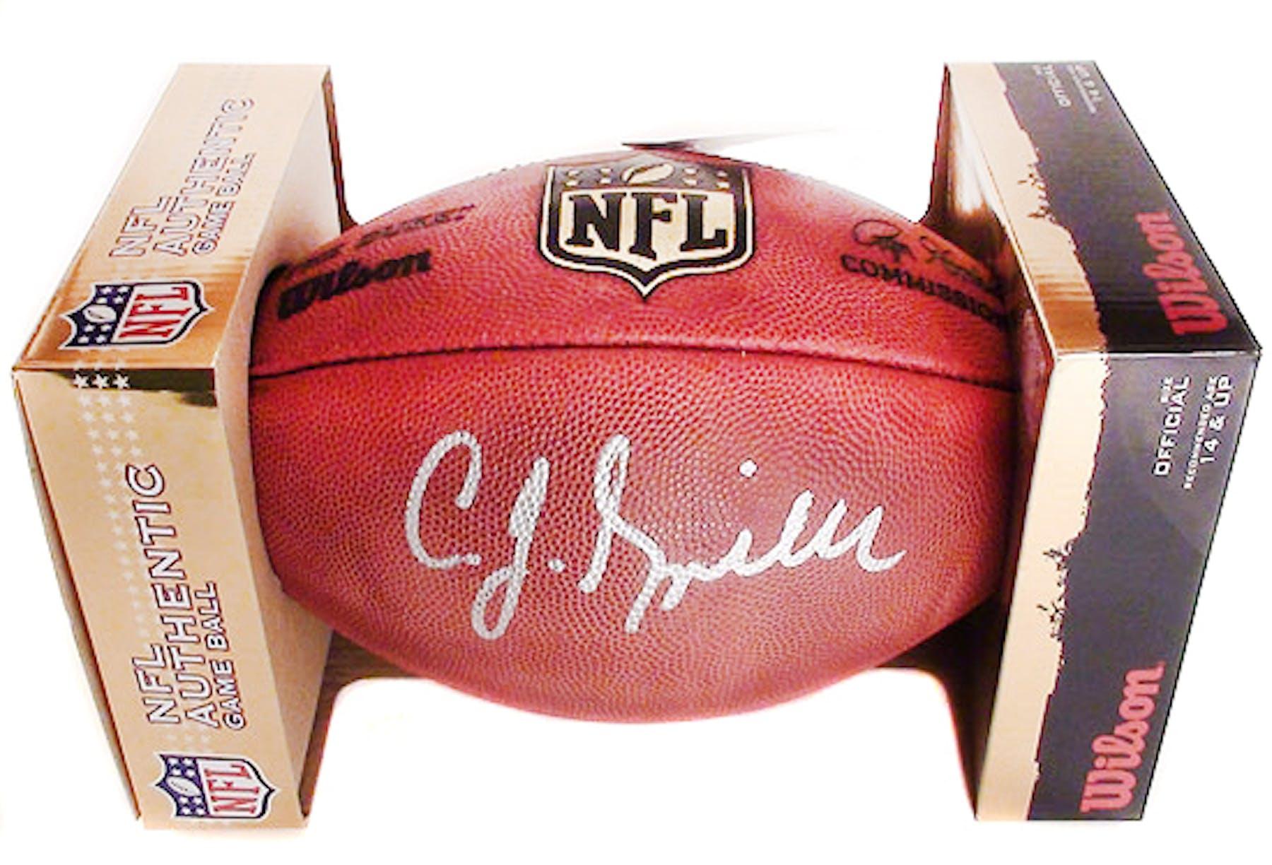 fe0d88750 CJ Spiller Autographed Buffalo Bills Official Wilson NFL Game Football