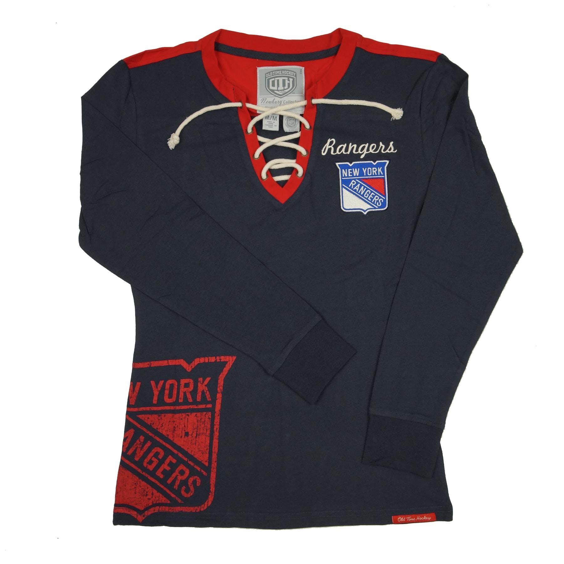 New York Rangers Old Time Hockey Navy Rachel L S Jersey Tee Shirt ... 9eb8242ca40