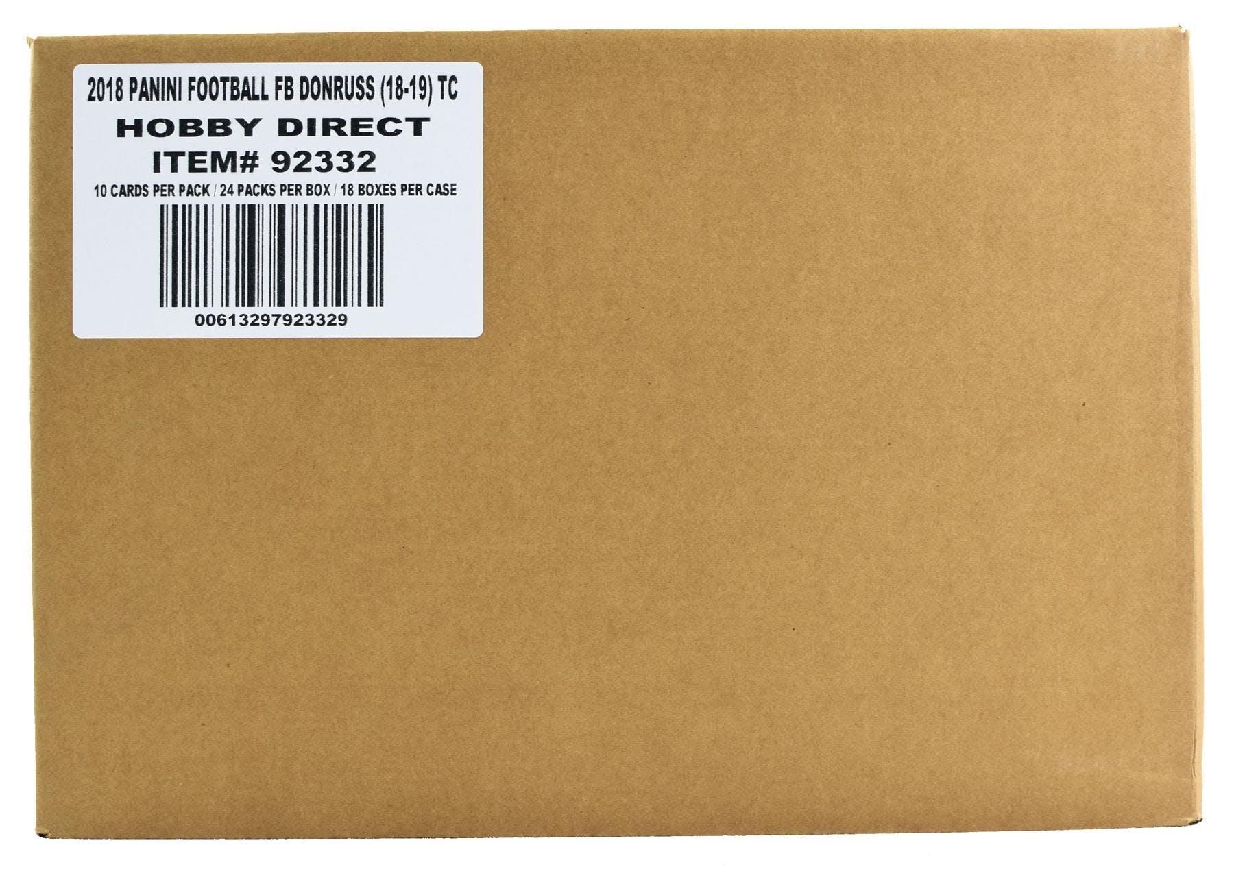 2018 Panini Donruss Football Hobby 18-Box Case  41bc85f4c