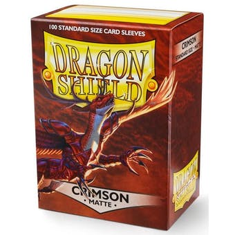 Dragon Shield Card Sleeves - Matte Crimson (100)