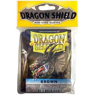 Dragon Shield Yu-Gi-Oh! Size Card Sleeves - Brown (50 Ct. Pack)