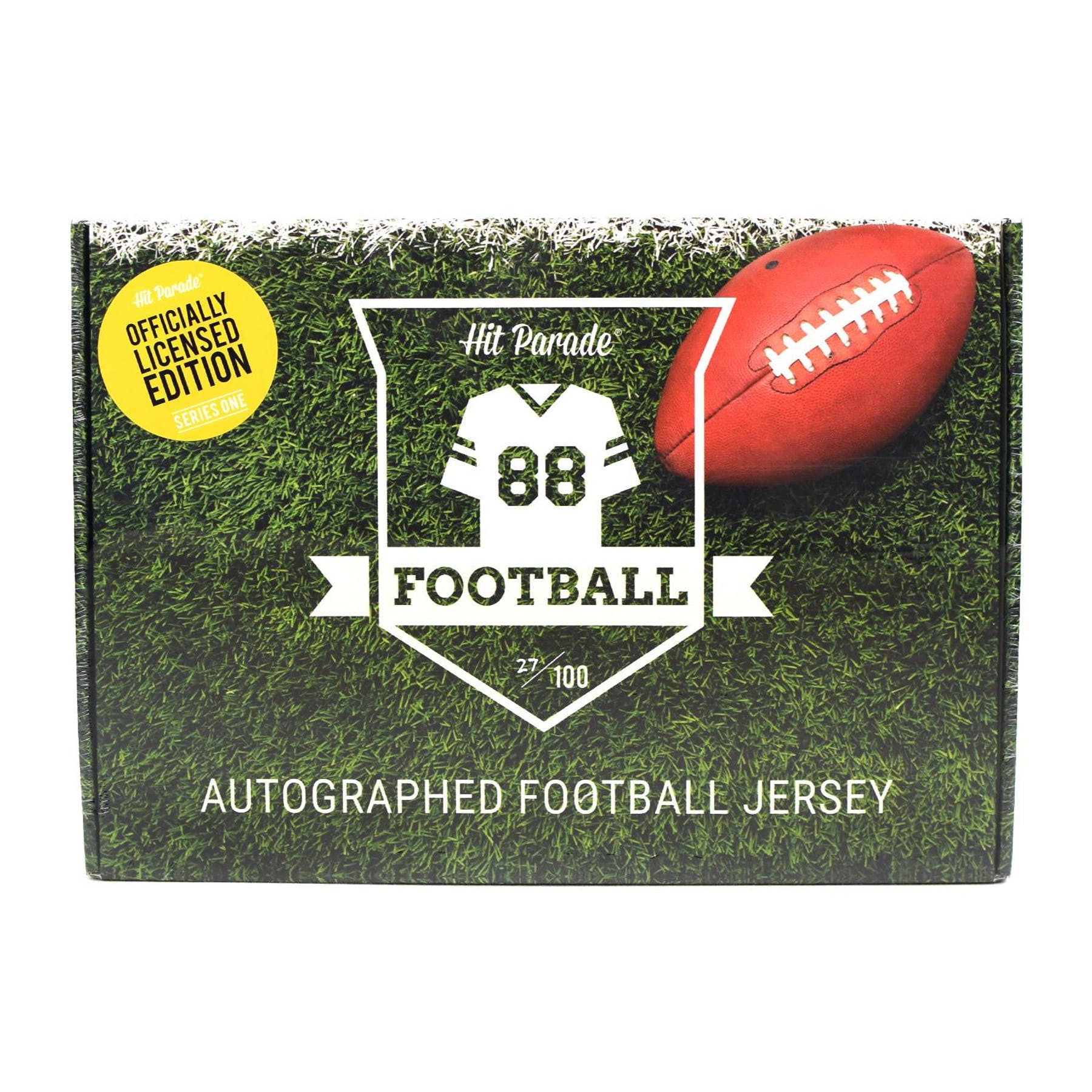 2018 Hit Parade Autographed OFFICIALLY LICENSED Football Jersey Hobby Box -  Series 1 - TOM BRADY!!!  76e54feaf