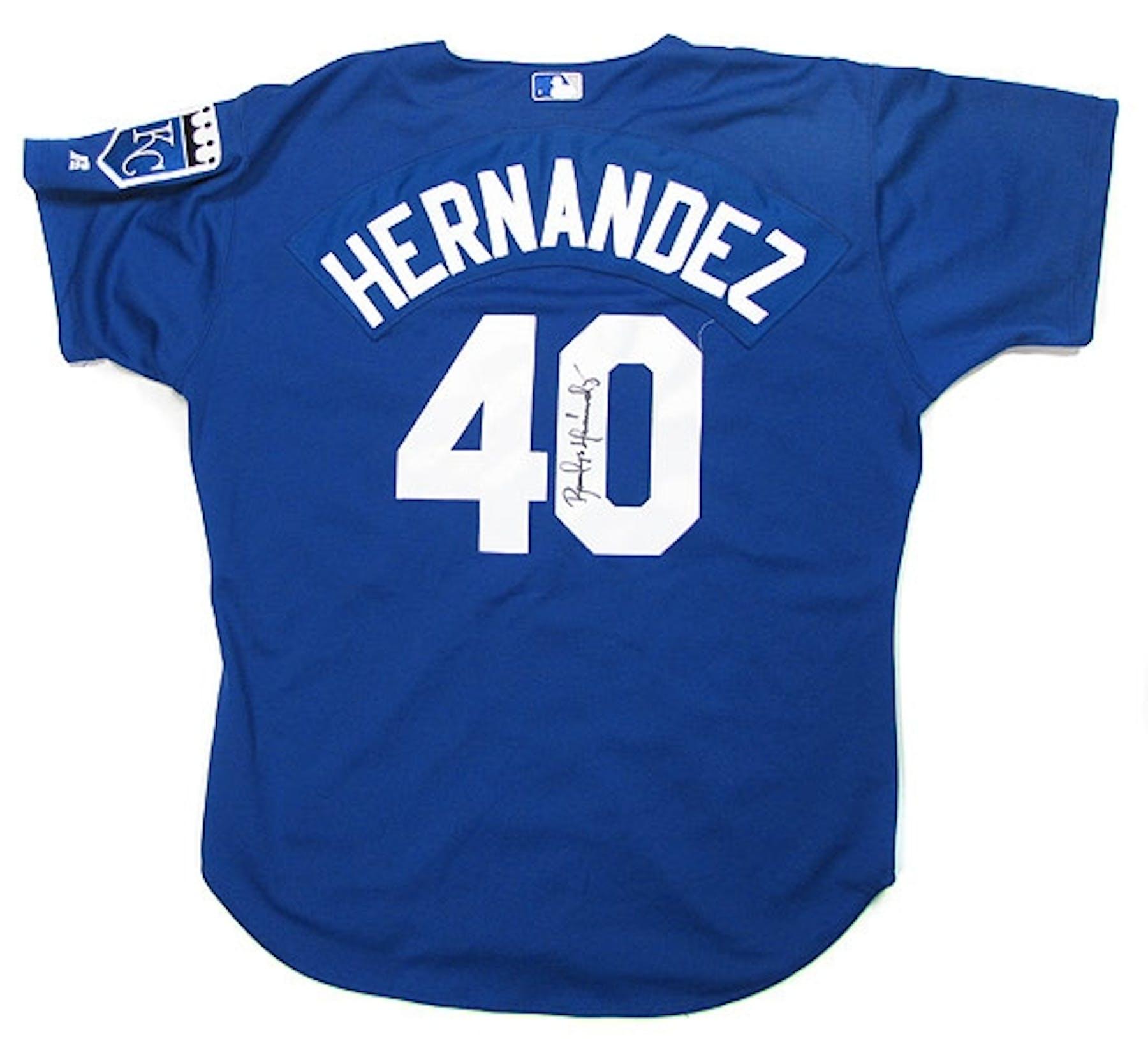 Runelvys Hernandez Autographed Game Worn K.C. Royals Jersey ... a469da532