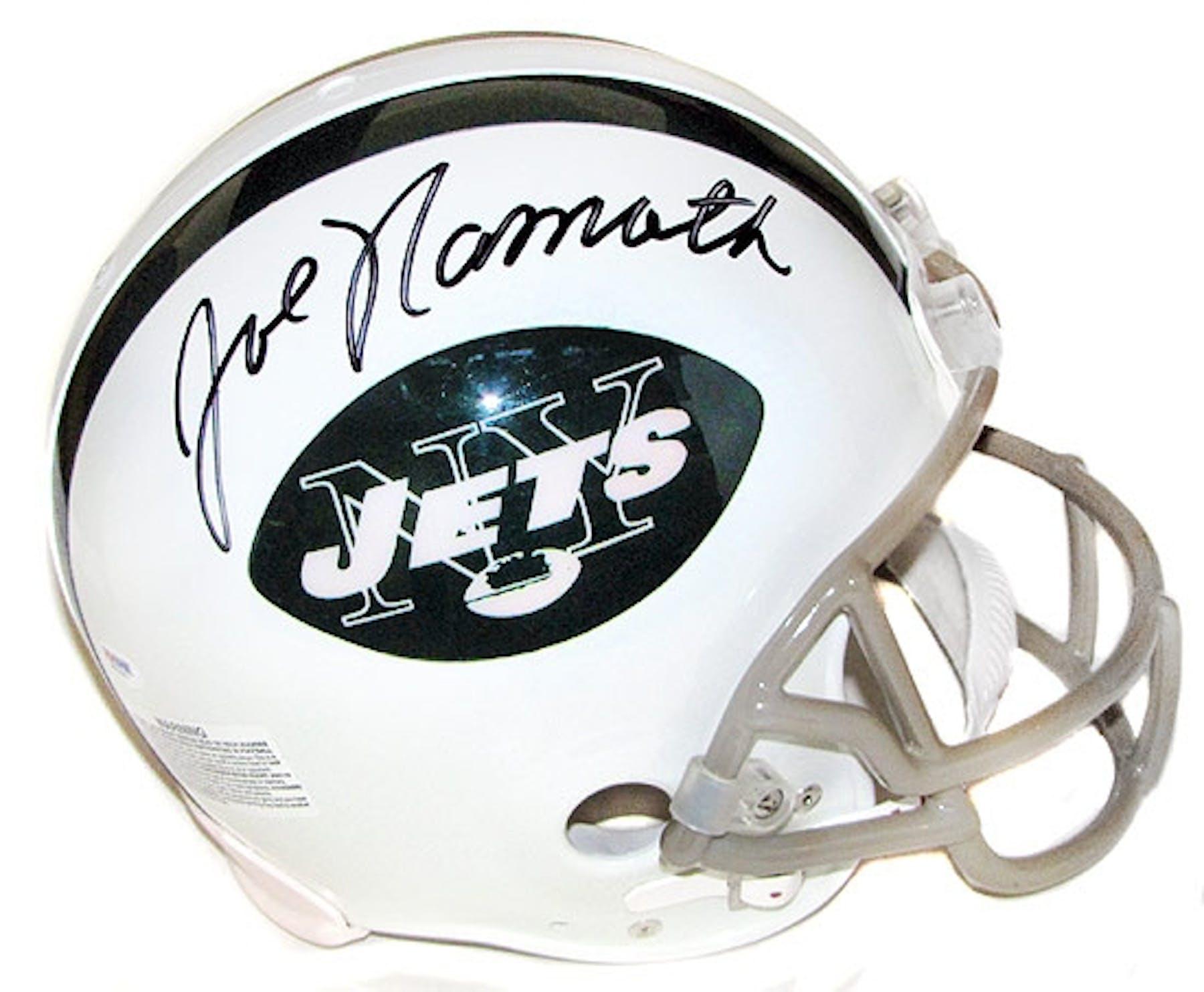 Joe Namath Autographed New York Jets Authentic Full Size Football ... e71506a0f