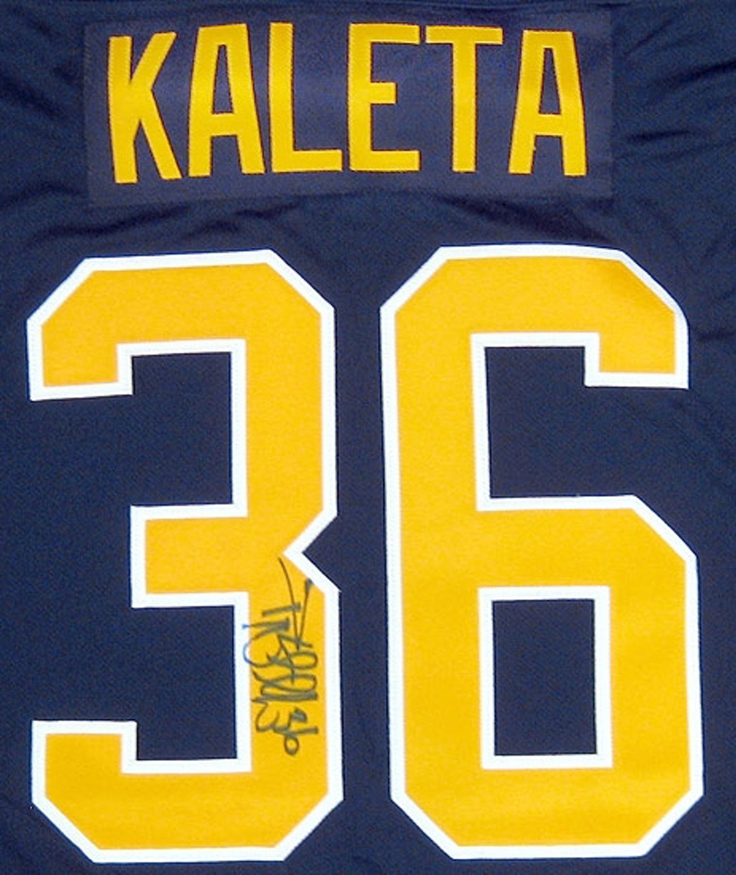 ef9290439 Patrick Kaleta Autographed Buffalo Sabres Blue Hockey Jersey