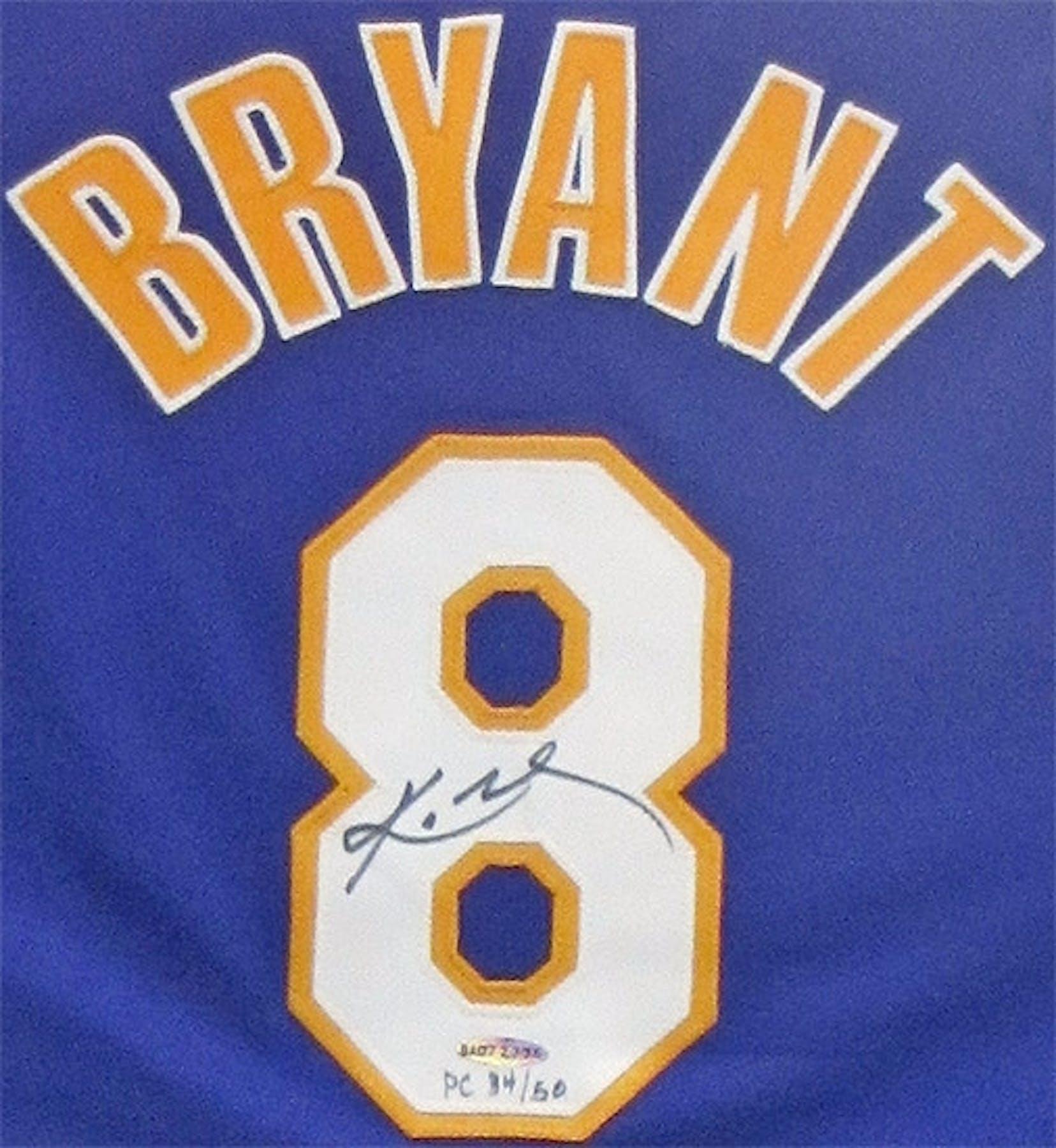 271d12de376 Kobe Bryant Autographed   Framed L.A. Lakers Authentic Jersey  8 (UDA)   50