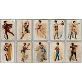 """1889 N196 Kimball """"Pretty Athletes"""" Complete Set (VG/EX)"""