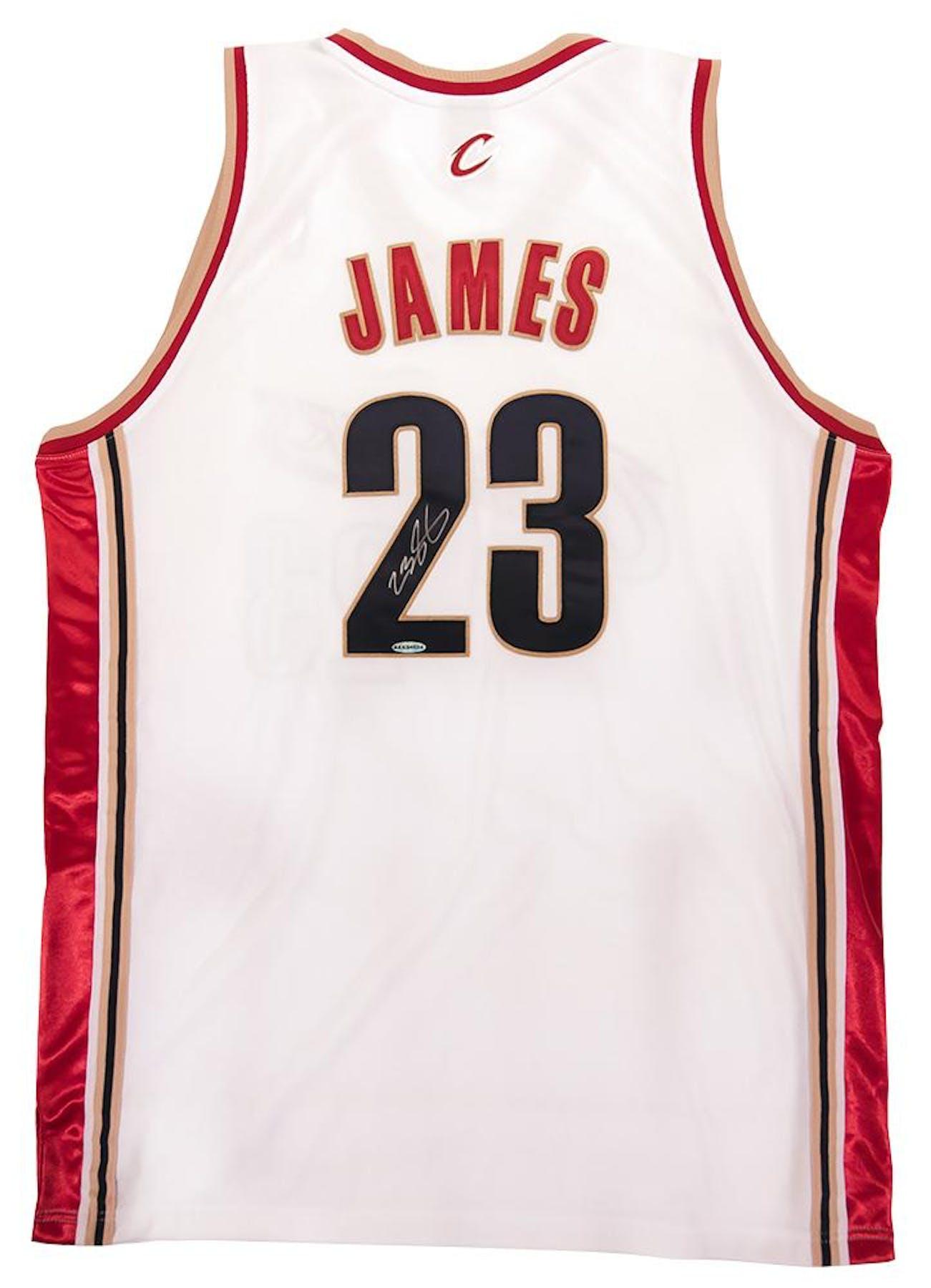 681f966b8 LeBron James Autographed Cleveland Cavaliers Authentic 2003 ...