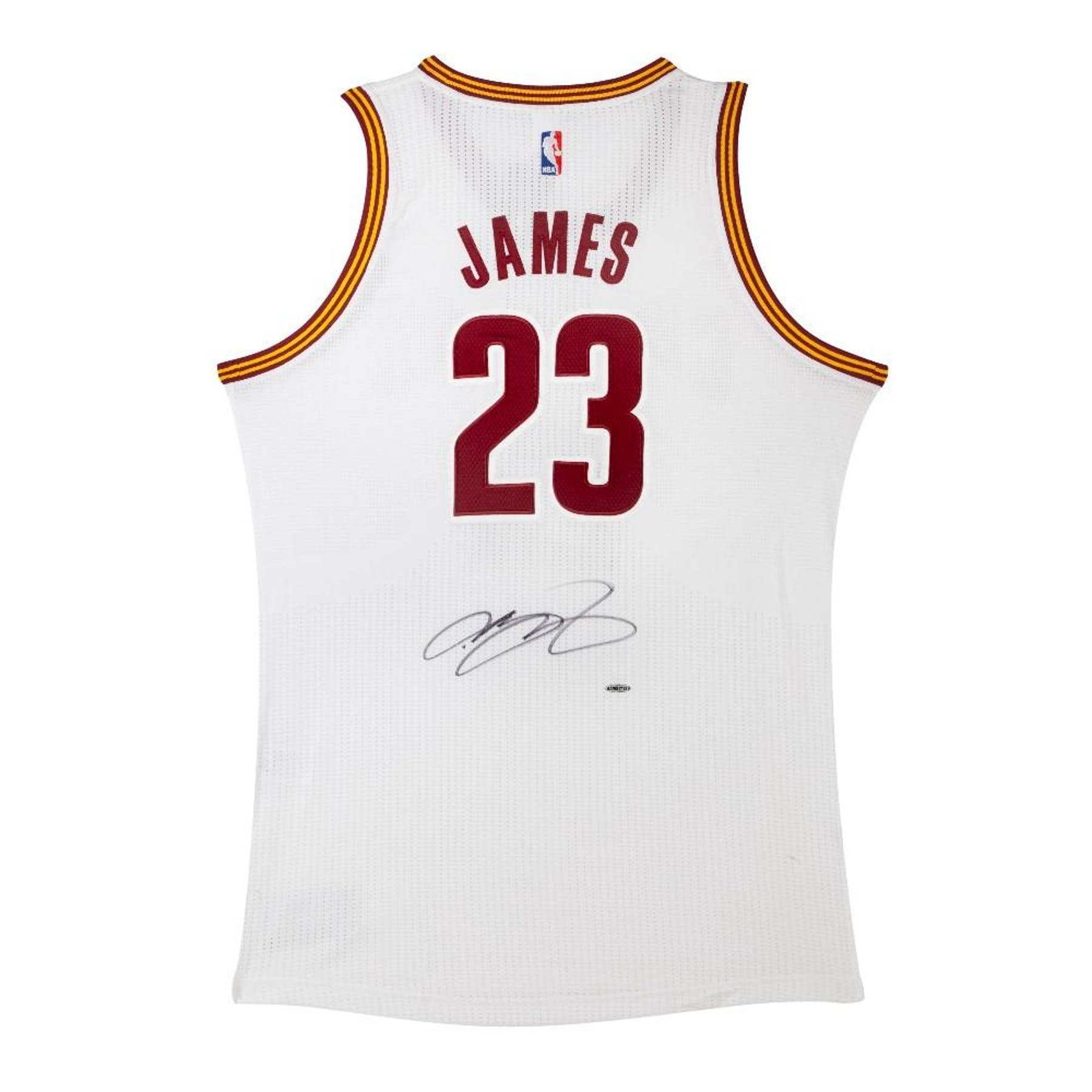 4f24913f51be LeBron James Autographed Cleveland Cavaliers White Basketball Jersey UDA
