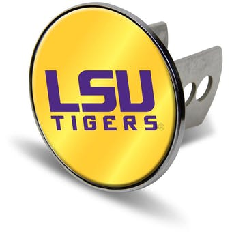 """LSU Tigers Rico Industries 4 """" Laser Trailer Hitch Cover"""