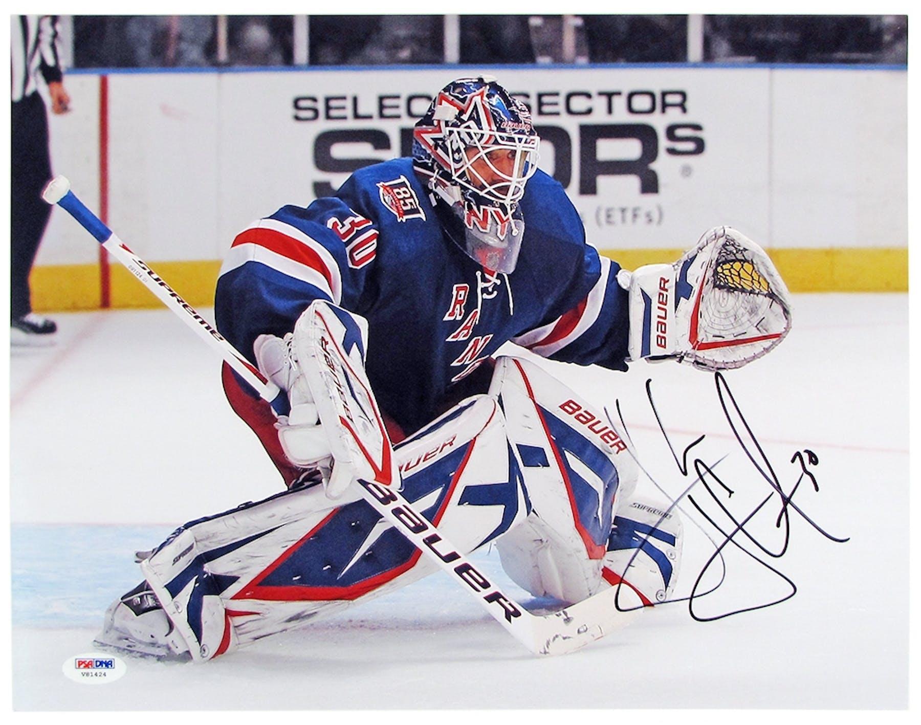 7c9424c7b42 Henrik Lundqvist Autographed New York Rangers 11x14 Photograph ...