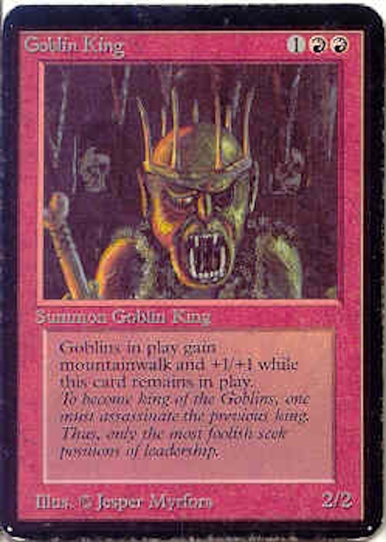 magic the gathering alpha single goblin king  slight play
