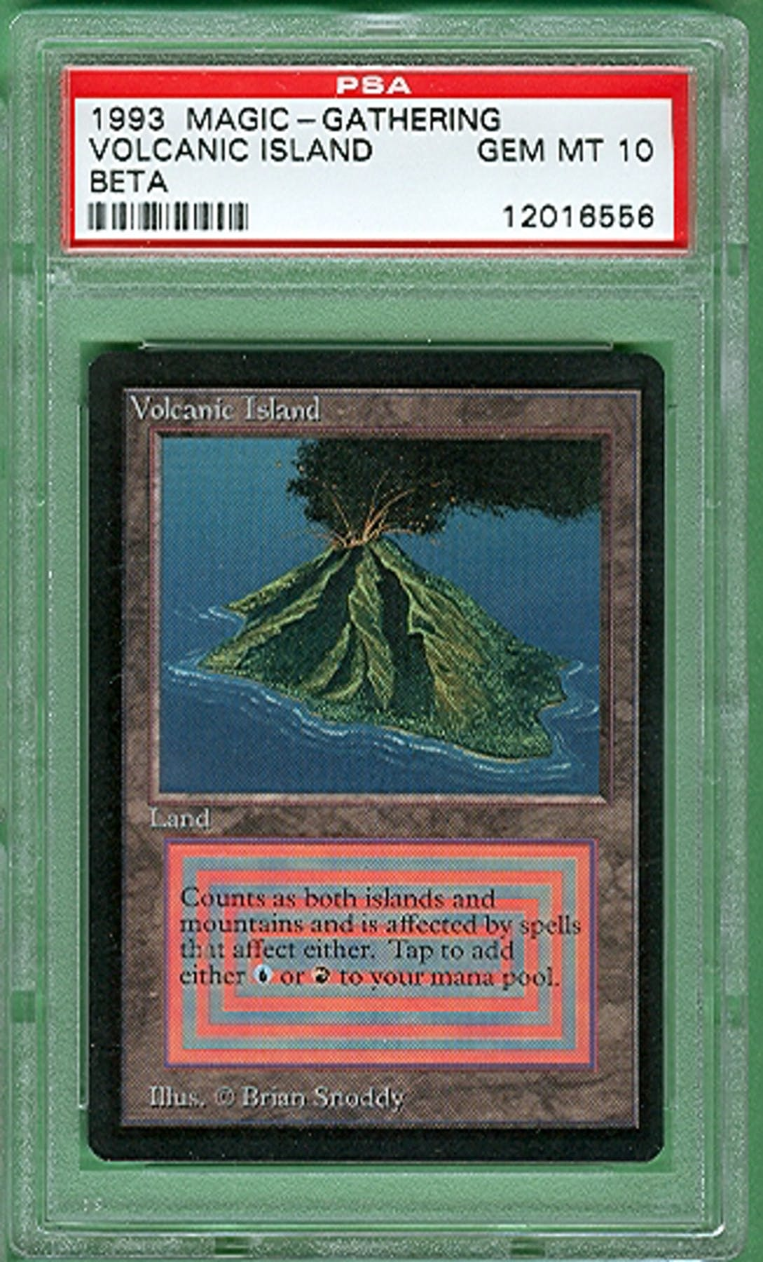 Island Auto Sales >> Magic the Gathering Beta Single Volcanic Island PSA 10 ...