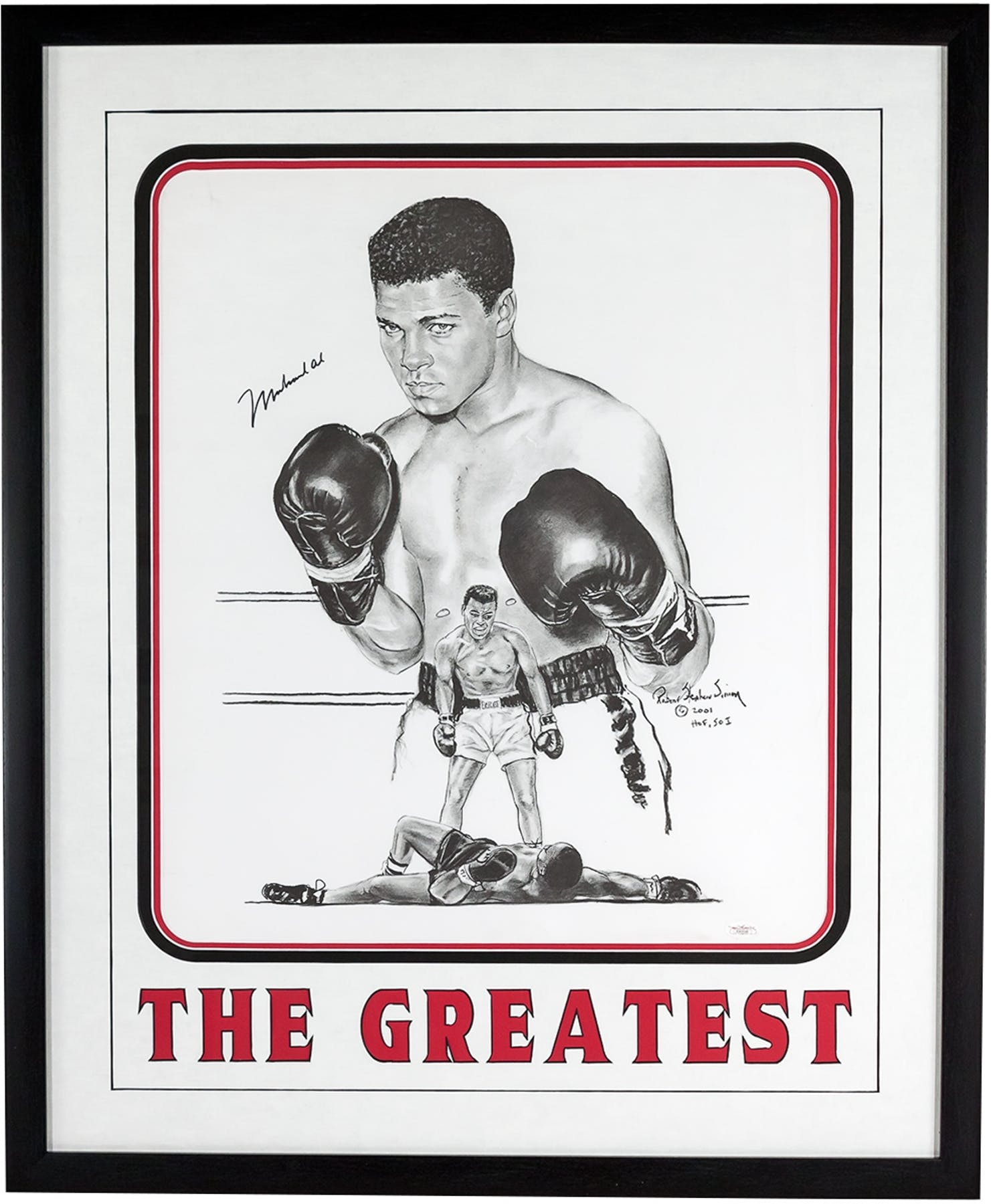 Muhammad Ali Autographed 20X24 Robert Stephen Simon Framed Print ...