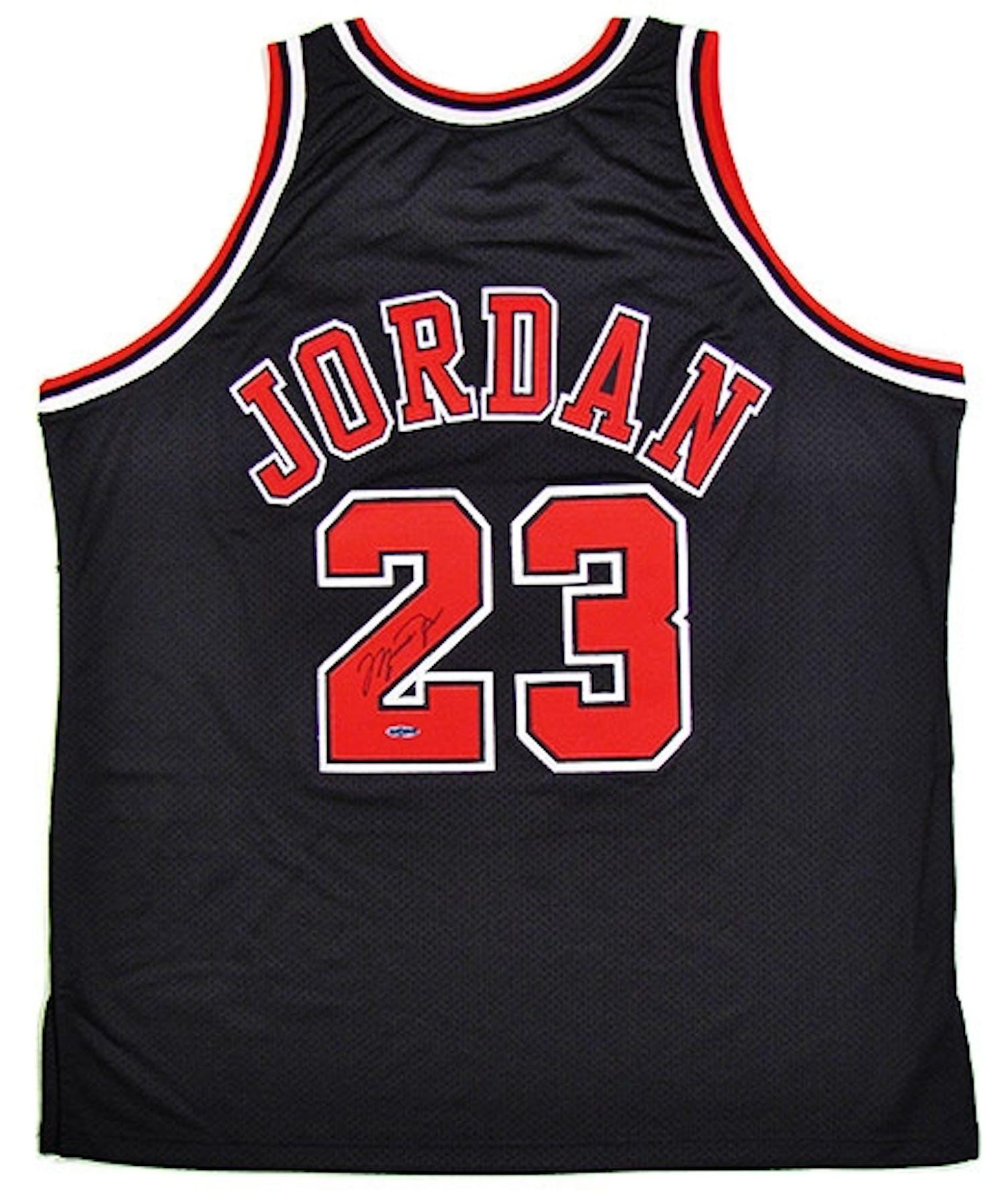 de8f02bf6 Michael Jordan Autographed Chicago Bulls Black Authentic ...