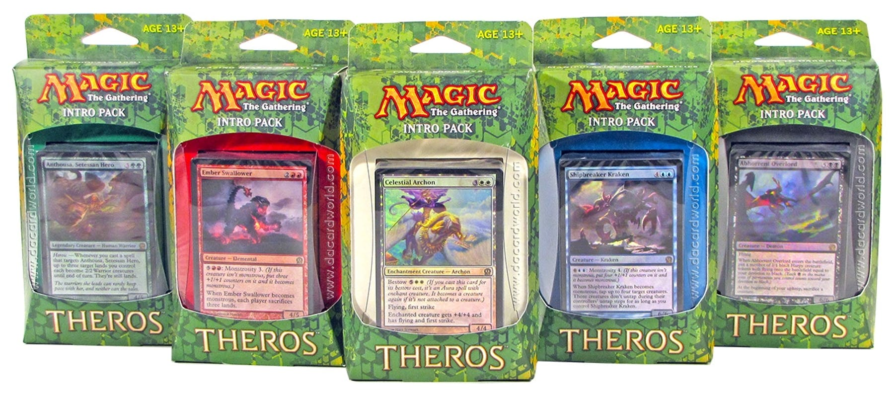 Magic The Gathering Theros Intro Packs Set Of 5 Da Card World