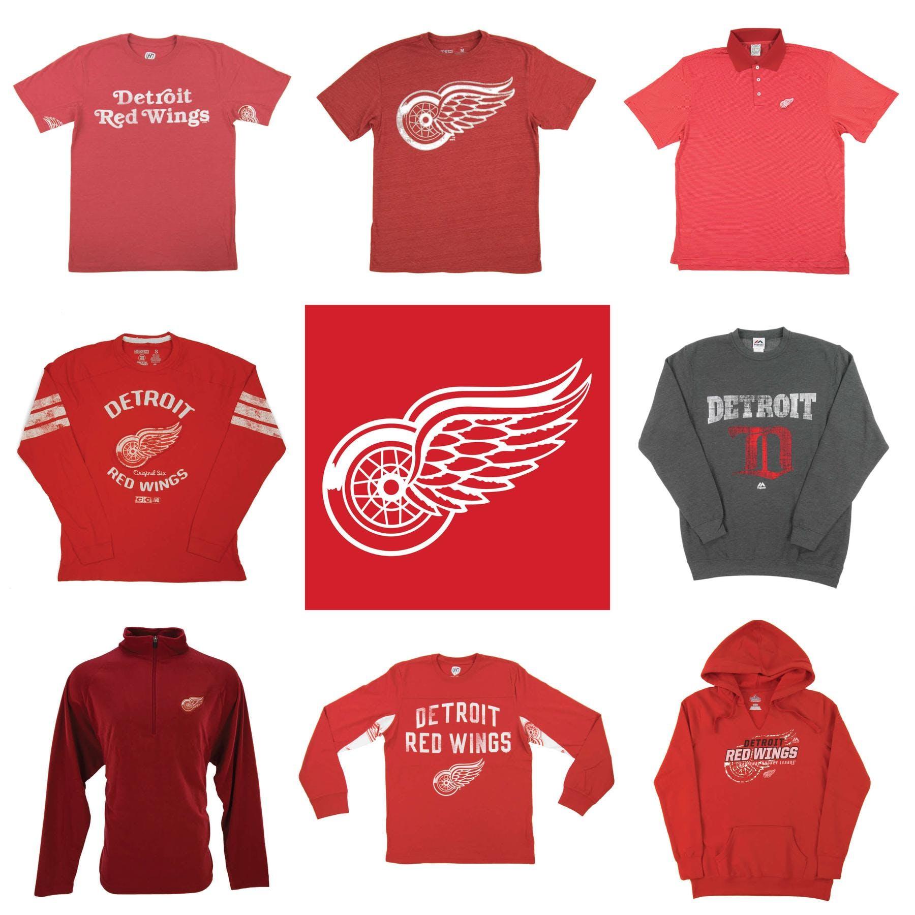 c77307ae180 Detroit Red Wings Premium NHL Apparel Liquidation - 2